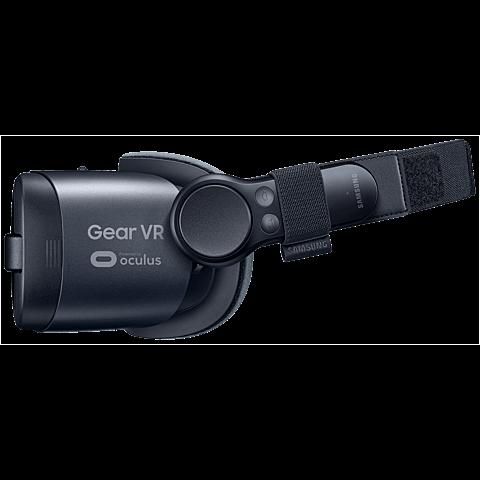 Samsung Gear VR (SM-R324) Schwarz mit Controller 99926535 seitlich