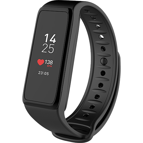 MyKronoz ZeFit 3HR Fitness-Armband Schwarz + 3 Bänder 99926365 vorne