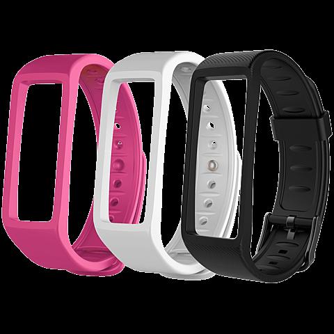 MyKronoz ZeFit 3HR Fitness-Armband Schwarz + 3 Bänder 99926365 seitlich