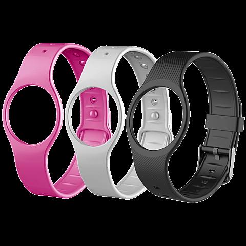MyKronoz ZeCircle 2 Premium Fitness-Armband Schwarz + 3 Bänder 99926386 seitlich