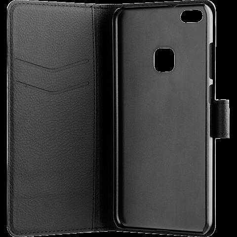 xqisit Slim Wallet Selection Schwarz Huawei P10 lite 99926338 seitlich