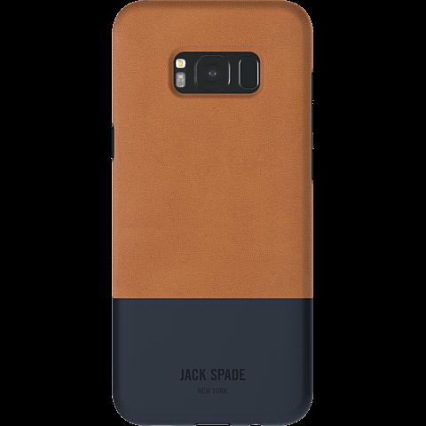 Jack Spade Colorblock Case Fulton Leather Tan Navy Samsung Galaxy S8+  99926435 hinten