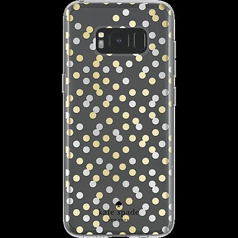 Kate Spade New York Hardshell Case Samsung Galaxy S8 Confetti Dot Clear 99926424 hinten