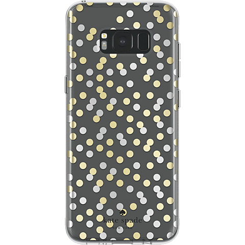 Kate Spade New York Hardshell Case Confetti Dot Clear Samsung Galaxy S8+ 99926425 hinten