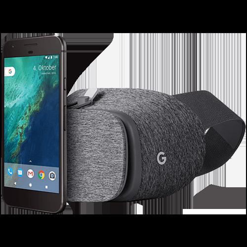 Google Pixel inklusive Daydream View VR