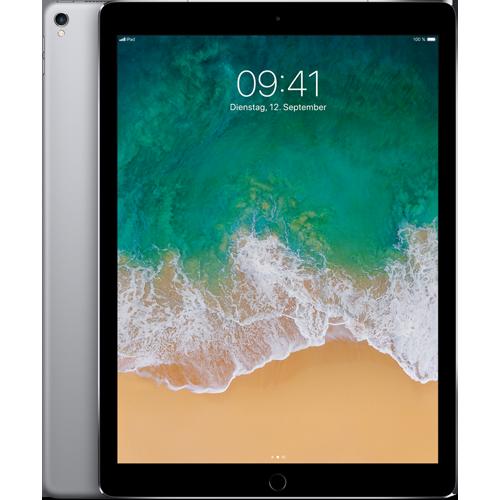 Apple iPad Pro 12,9'' WiFi und Cellular Space Grau vorne und hinten