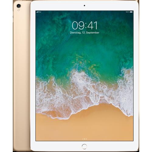 Apple iPad Pro 12,9'' WiFi und Cellular Gold vorne und hinten