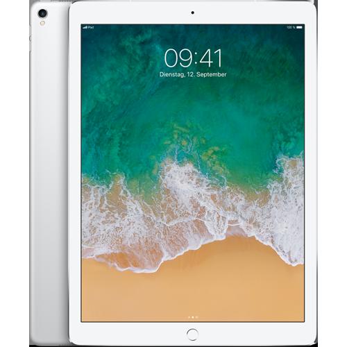 Apple iPad Pro 12,9'' WiFi und Cellular Silber vorne und hinten