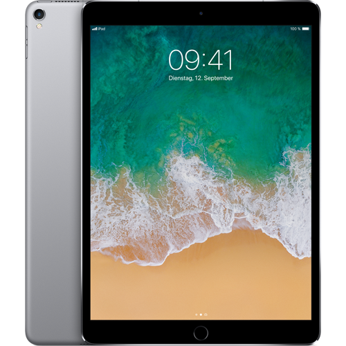 Apple iPad Pro 10,5'' WiFi und Cellular Spacegrau vorne und hinten