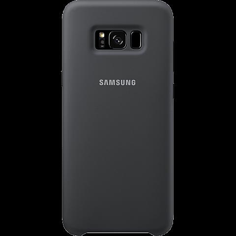 Samsung Silicone Cover silbergrau Samsung S8+ 99926491 hinten