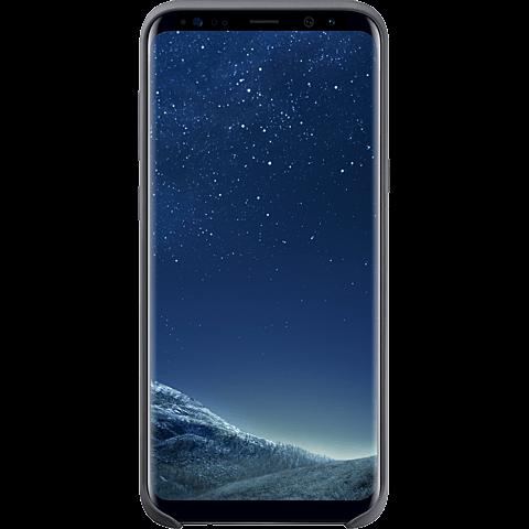 Samsung Silicone Cover silbergrau Samsung S8+ 99926491 vorne
