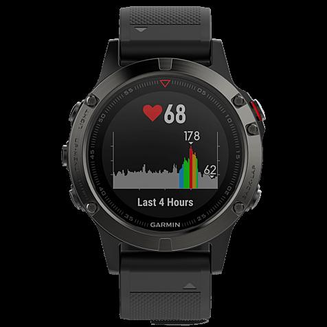 Garmin fenix 5 GPS-Multisport Smartwatch Schwarz Grau 99926542 hero