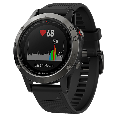 Garmin fenix 5 GPS-Multisport Smartwatch Schwarz Grau 99926542 seitlich