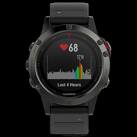 Garmin fenix 5 GPS-Multisport Smartwatch Schwarz Grau 99926542 vorne