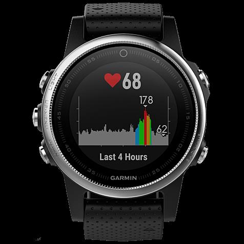 Garmin fenix 5S GPS-Multisport Smartwatch Silber Schwarz 99926543 hero