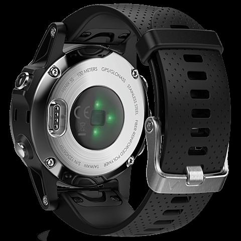 Garmin fenix 5S GPS-Multisport Smartwatch Silber Schwarz 99926543 hinten