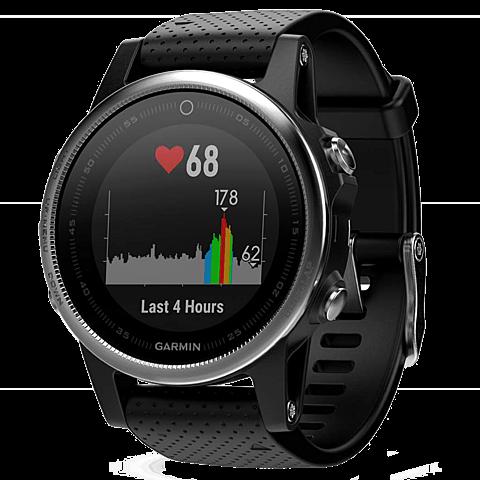 Garmin Fenix 5S GPS Multisport Smartwatch Silber Schwarz 99926543 Seitlich