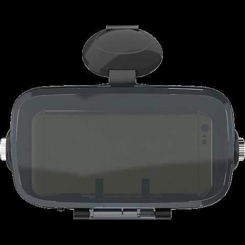 xqisit VR 1 Brille Schwarz 99926740 vorne