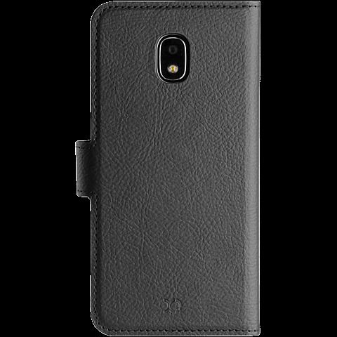 xqisit Slim Wallet Samsung Galaxy J3 (2017) Schwarz 99926790 hinten