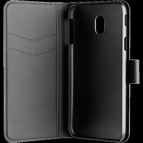 xqisit Slim Wallet Samsung Galaxy J3 (2017) Schwarz 99926790 seitlich