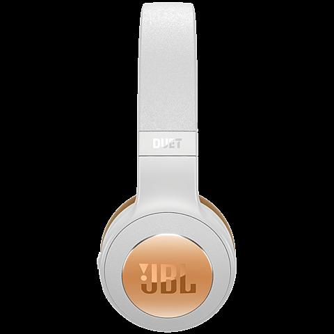 JBL Duet BT Bluetooth-On-Ear Kopfhörer Weiß 99926732 seitlich