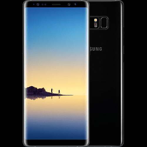 Samsung Galaxy Note8 Schwarz vorne und hinten