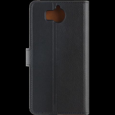 xqisit Slim Wallet Selection Schwarz Huawei Y6 (2017) 99926968 hinten