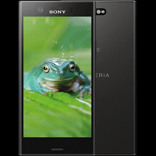 Sony Xperia XZ1 Compact Schwarz vorne und hinten