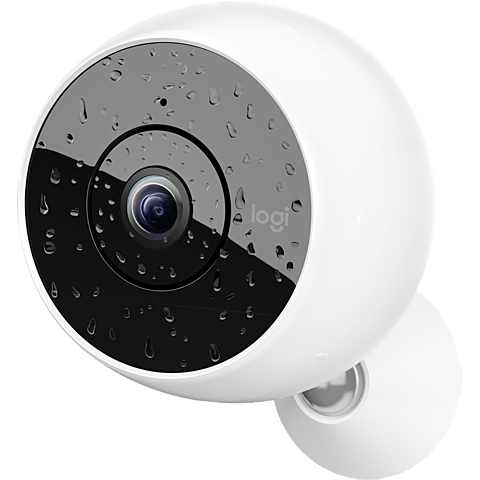 Logitech Circle 2 WiFi in-outdoor Kamera, Weiss 99927198 vorne