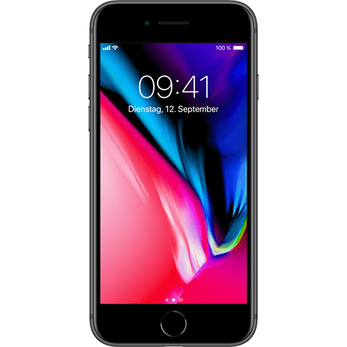 Apple iPhone 8 Space Grau Vorne