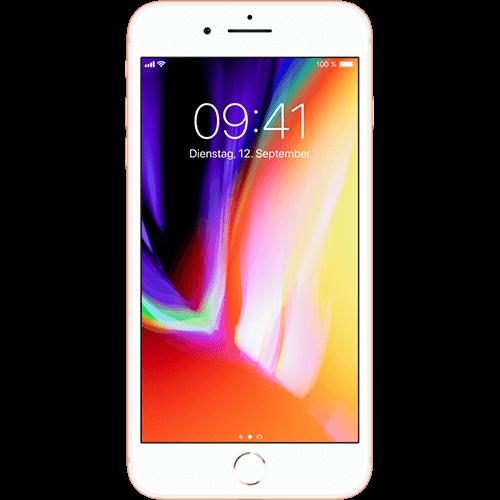 Apple iPhone 8 Plus Gold Vorne und Hinten