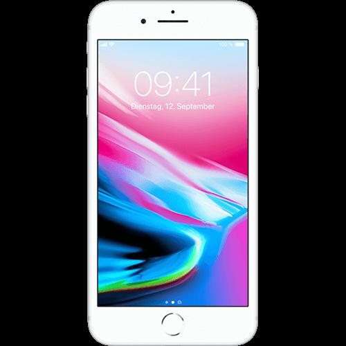 Apple iPhone 8 Plus Silber Vorne und Hinten