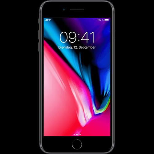 Apple iPhone 8 Plus Space Grau Vorne und Hinten