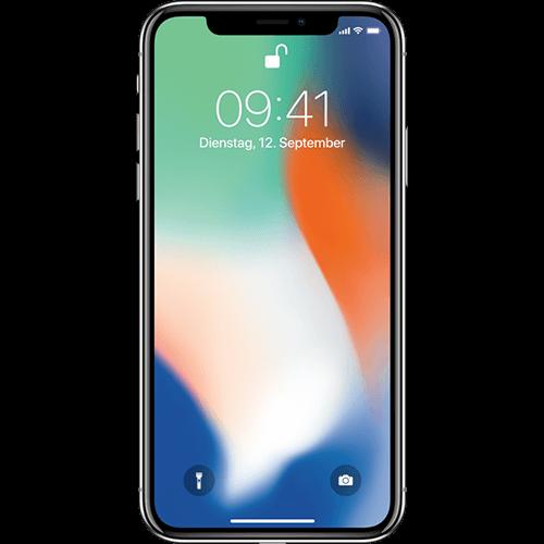 Apple iPhone X Silber Vorne und Hinten