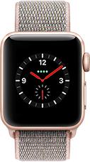 Apple Watch Series 3 Aluminium-Gold-38 mm, Armband-Sport Loop-Sandrosa, GPS und Cellular Katalog