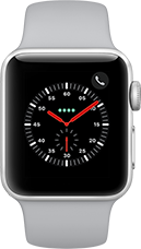 Apple Watch Series 3 Aluminium-Silber-38 mm, Armband-Sport-Nebel, GPS und Cellular Katalog