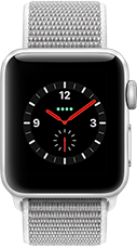 Apple Watch Series 3 Aluminium-Silber-38 mm, Armband-Sport Loop-Muschel, GPS und Cellular Katalog