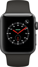 Apple Watch Series 3 Aluminium-Space Grau-38 mm, Armband-Sport-Grau, GPS und Cellular Katalog
