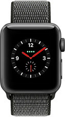Apple Watch Series 3 Aluminium-Space Grau-38 mm, Armband-Sport Loop-Dunkeloliv, GPS und Cellular Katalog