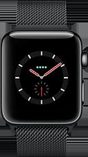 Apple Watch Series 3 Edelstahl-Space Schwarz-38 mm, Armband-Edelstahl-Milanaise Space Schwarz, GPS und Cellular Katalog