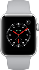 Apple Watch Series 3 Aluminium-Silber-42 mm, Armband-Sport-Nebel, GPS und Cellular Katalog