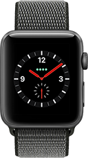 Apple Watch Series 3 Aluminium-Space Grau-42 mm, Armband-Sport Loop-Dunkelolive, GPS und Cellular Katalog