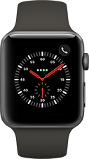 Apple Watch Series 3 Aluminium-Space Grau-42 mm, Armband-Sport-Grau, GPS und Cellular Katalog