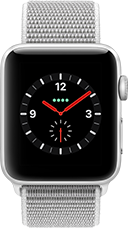 Apple Watch Series 3 Aluminium-Silber-42 mm, Armband-Sport Loop-Muschel, GPS und Cellular Katalog
