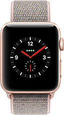 Apple Watch Series 3 Aluminium-Gold-42 mm, Armband-Sport Loop-Sandrosa, GPS und Cellular Katalog