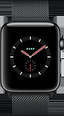 Apple Watch Series 3 Edelstahl-Space Schwarz-42 mm, Armband-Milanaise-Space Schwarz, GPS und Cellular Katalog