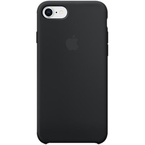 Apple Silikon Case iPhone 8 Schwarz 99927232 vorne