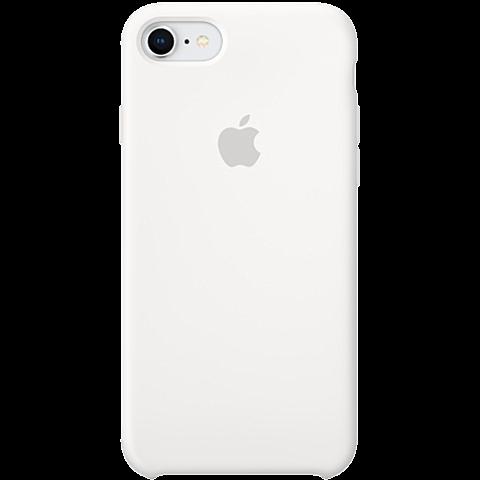 Apple Silikon Case iPhone 8 Weiss 99927235 vorne