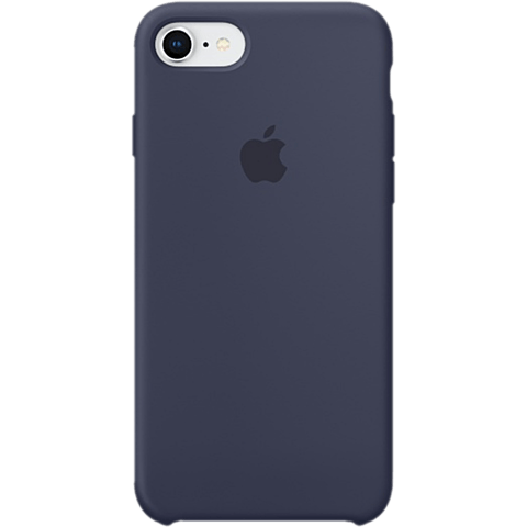 Apple Silikon Case iPhone 8 Mitternachtsblau 99927256 vorne