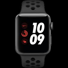 Apple Watch Series 3 Nike+ Aluminium-Space Grau-38 mm, Armband-Nike Sport-Anthrazit/Schwarz, GPS und Cellular Katalog